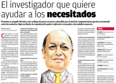Entrevista a nuestro presidente Carlos Román